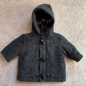 Boy's Pea Winter Coat Charcoal Jacket 6-9 months